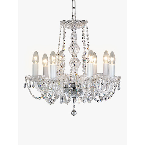 Buy impex modra chandelier ceiling light 8 light crystal clear buy impex modra chandelier ceiling light 8 light crystal clear online at johnlewis mozeypictures Images