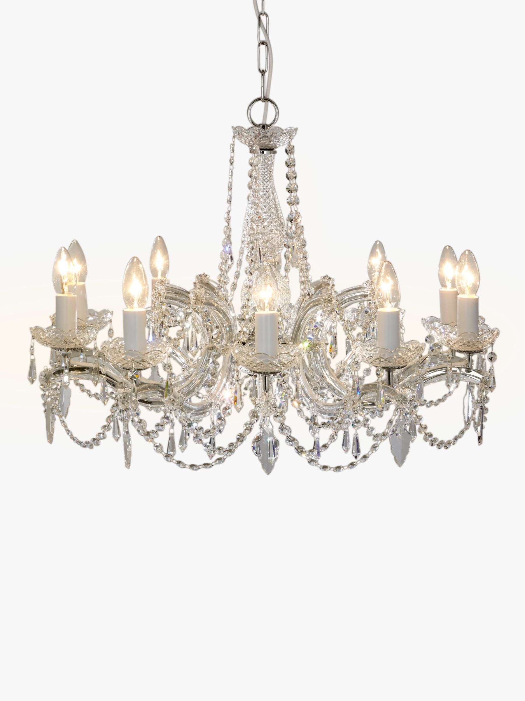 Impex Impex Marie Theresa Chandelier, 10 Arm, Crystal