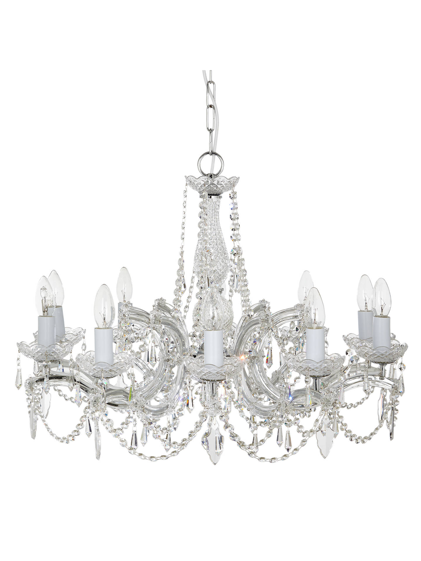 Buy Impex Marie Theresa Chandelier, 5 Arm, ClearGold Online