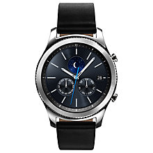 Buy Samsung Gear S3 Classic Smartwatch with Leather Band, Dark Grey Online at johnlewis.com