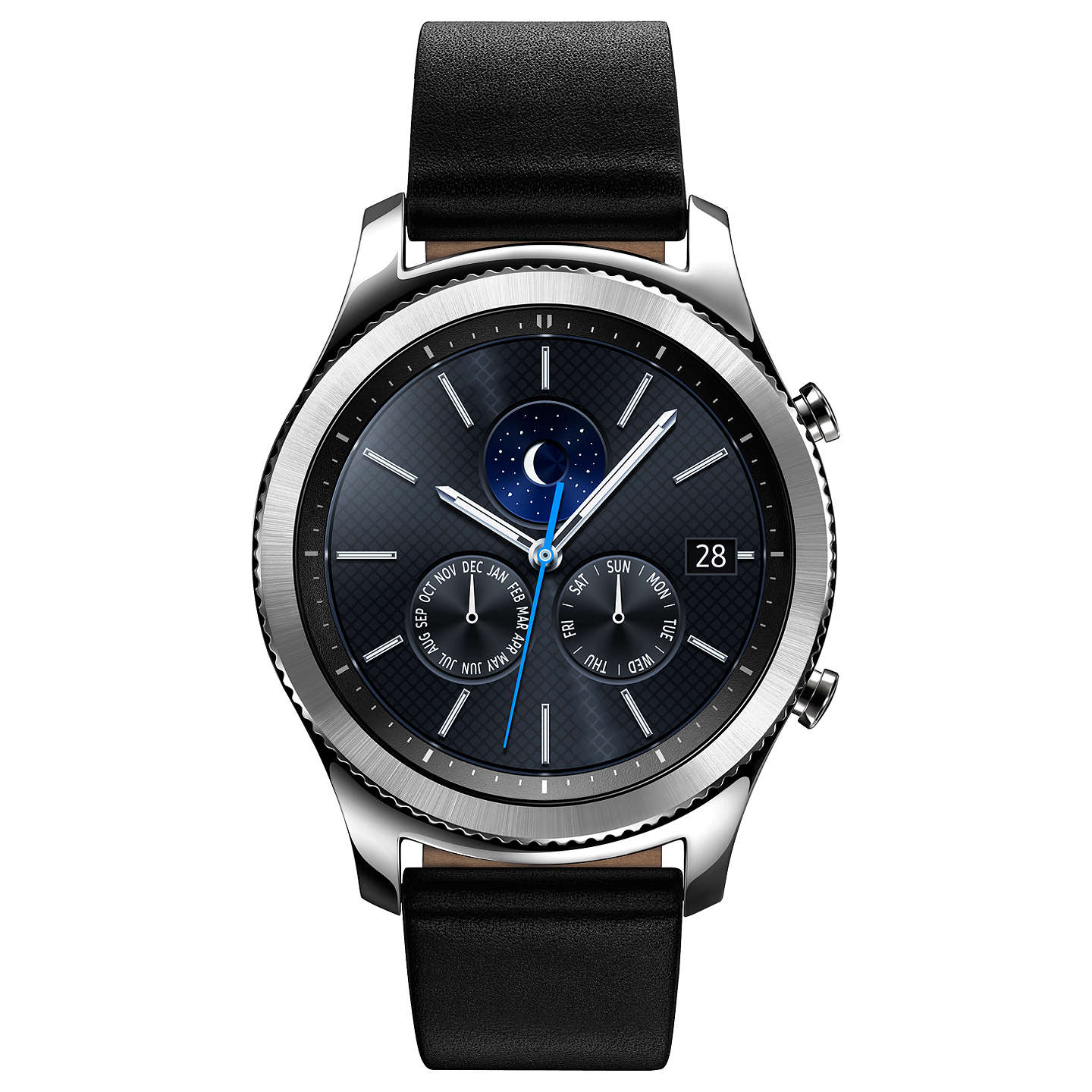 BuySamsung Gear S3 Classic Smartwatch with Leather Band, Dark Grey Online  at johnlewis.com ...