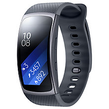 Buy Samsung Gear Fit 2 GPS Sports Band, Dark Grey, Large Online at johnlewis.com
