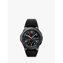 Buy Samsung Gear S3 Frontier Smartwatch with Active Silicon Band, Dark Grey Online at johnlewis.com