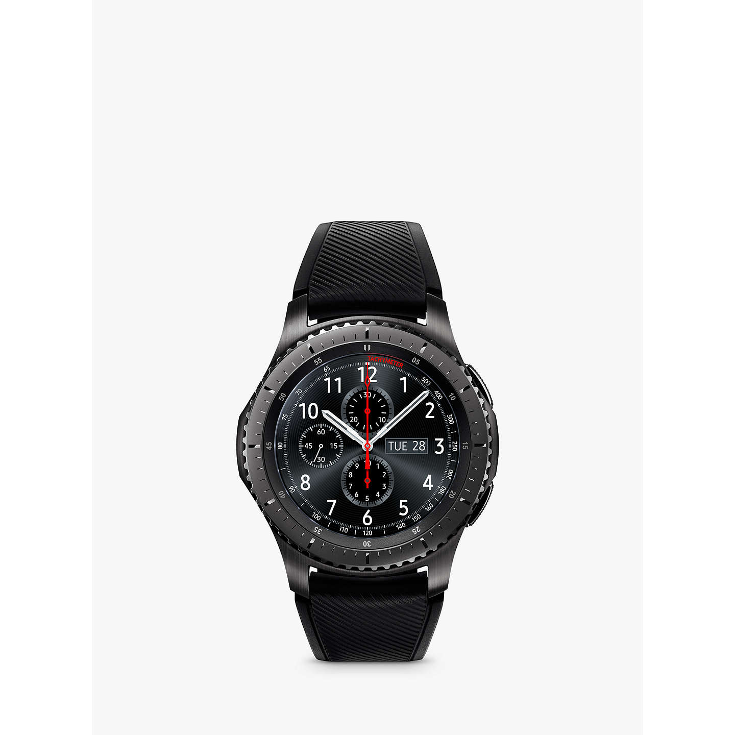 BuySamsung Gear S3 Frontier Smartwatch with Active Silicon Band, Dark Grey  Online at johnlewis.