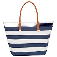 Buy Phase Eight Straw Bag, Navy/Ivory Online at johnlewis.com