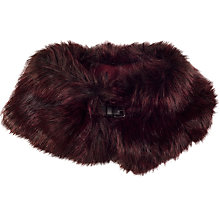 Buy Chesca Faux Fur Buckle Detail Collar, Cranberry Online at johnlewis.com