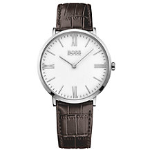 Buy HUGO BOSS Men's Jackson Leather Strap Watch Online at johnlewis.com