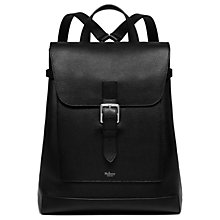 Buy Mulberry Chiltern Buckle Leather Backpack, Black Online at johnlewis.com