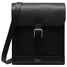 Buy Mulberry Chiltern Buckle Messenger, Black Online at johnlewis.com