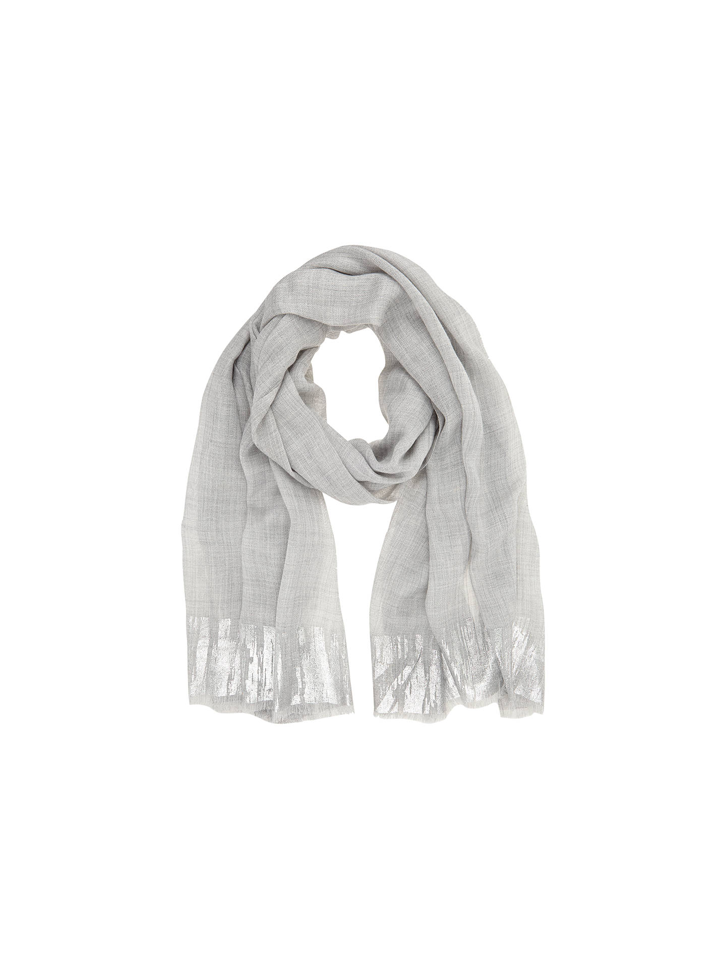 aaaf4ab56666a Buy Hygge by Mint Velvet Metallic Ombre Scarf, Silver Grey Online at  johnlewis.com ...