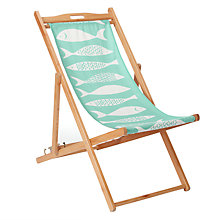 Buy John Lewis 'Fish' Deckchair, FSC-Certified (Eucalyptus), Multi Online at johnlewis.com