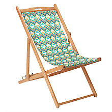 Buy John Lewis 'Diamond' Deckchair, FSC-Certified (Eucalyptus), Multi Online at johnlewis.com