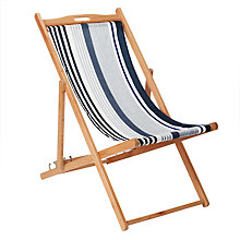 Buy House by John Lewis Classic Stripes Deckchair, FSC-Certified (Eucalyptus), Multi Online at johnlewis.com