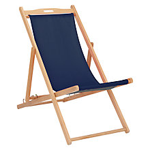 Buy House by John Lewis Deckchair, FSC-Certified (Eucalyptus), Navy Online at johnlewis.com