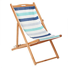 Buy John Lewis Newfoundland 'Stripe' Deck Chair, FSC-Certified (Eucalyptus) Online at johnlewis.com