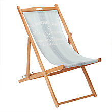 Buy John Lewis 'Maison Stripe' Deckchair, FSC-Certified (Eucalyptus), Multi Online at johnlewis.com