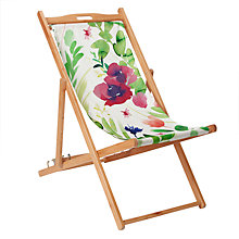 Buy John Lewis Floral Deck Chair, FSC-Certified (Eucalyptus), Multi Online at johnlewis.com