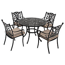 Buy LG Outdoor Devon 4 Seater Round Dining Table & Chairs Set, Bronze Online at johnlewis.com