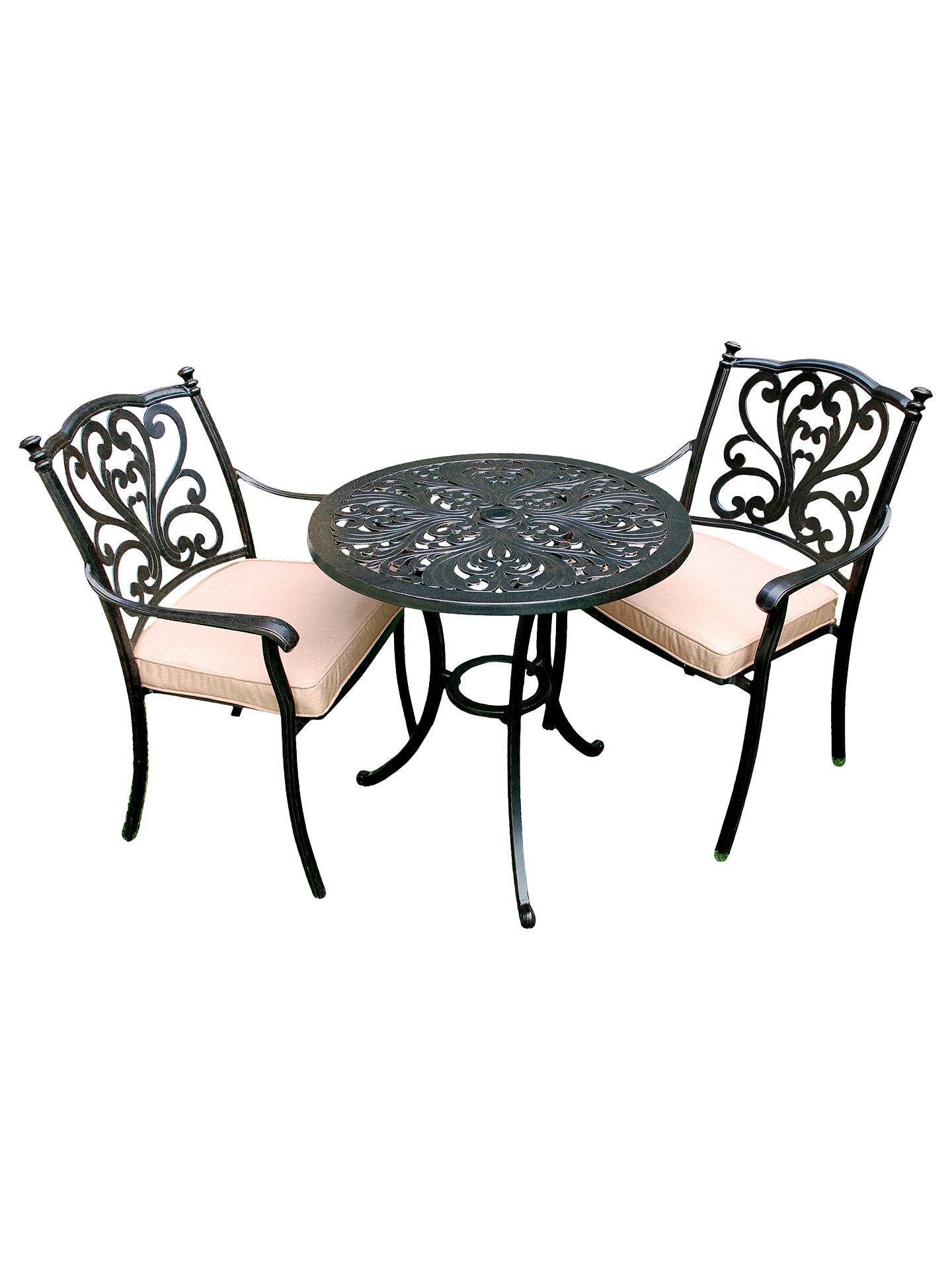 78963c5520fe Buy LG Outdoor Devon 2 Seater Garden Bistro Table and Chairs Set, Bronze  Online at ...