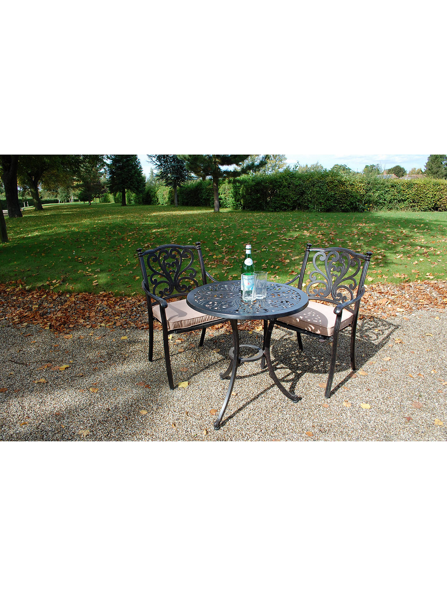 dddc18fa52df ... Buy LG Outdoor Devon 2 Seater Garden Bistro Table and Chairs Set,  Bronze Online at ...