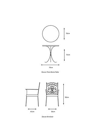 Buy LG Outdoor Devon 2 Seater Garden Bistro Table and Chairs Set, Bronze Online at johnlewis.com