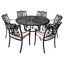 Buy LG Outdoor Devon 6 Seater Round Dining Table & Chairs Set, Bronze Online at johnlewis.com