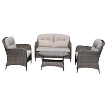 Buy LG Outdoor Marseille 4 Seater Garden Lounging Set, Brown Online at johnlewis.com