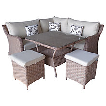 Buy LG Outdoor Saigon Riviera Modular Petite Dining Set, Natural Online at johnlewis.com