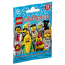 Buy LEGO Minifigures Series 17 Mystery Bag, Assorted Online at johnlewis.com