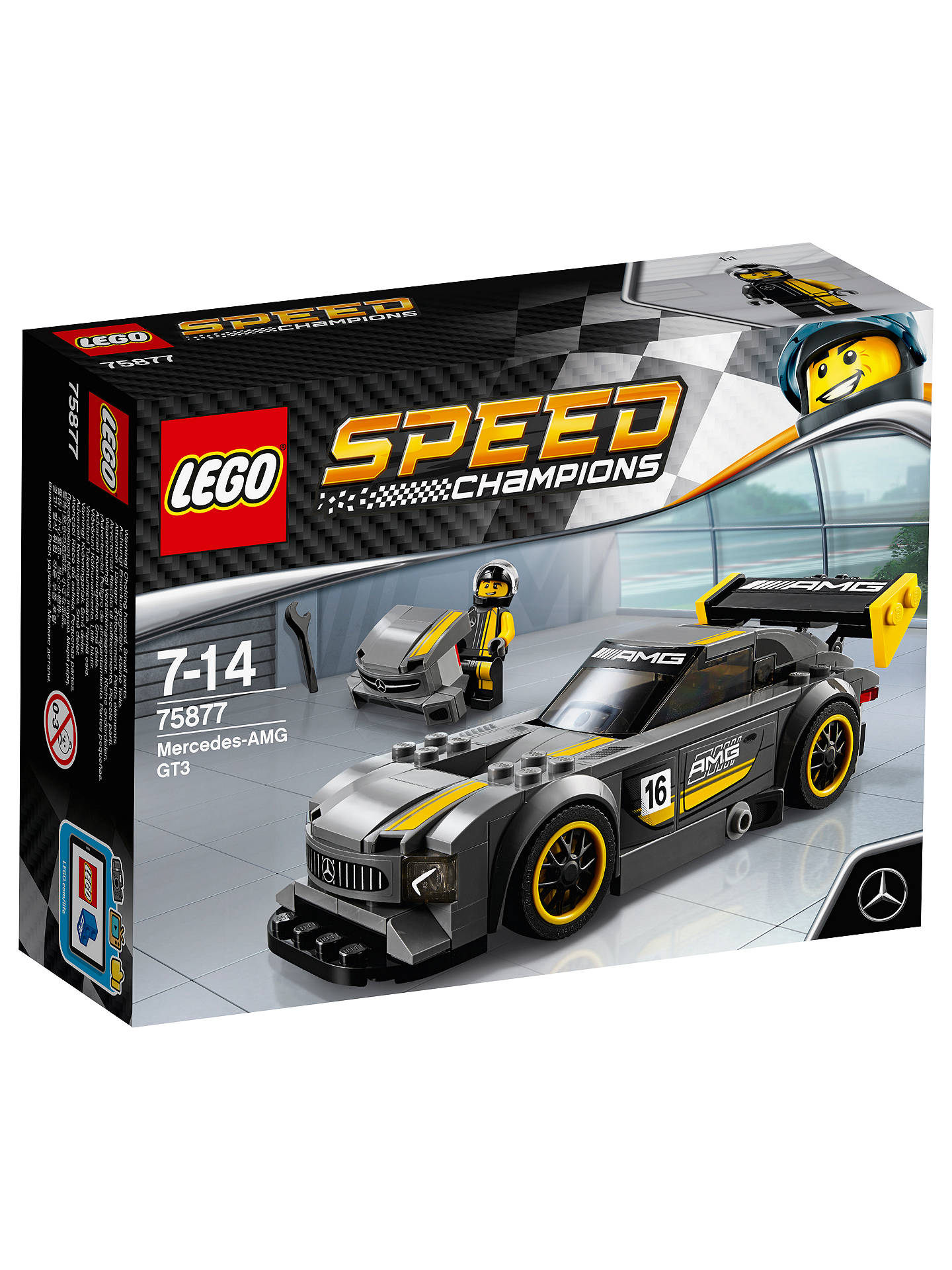 lego speed champions 75877 mercedes amg gt3 sports car at. Black Bedroom Furniture Sets. Home Design Ideas