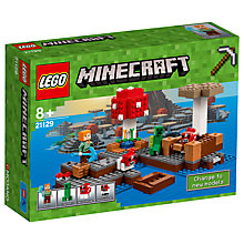 Buy LEGO Minecraft 21129 The Mushroom Island Online at johnlewis.com