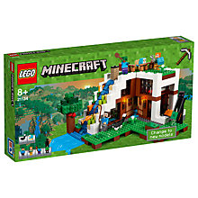Buy LEGO Minecraft 21134 The Waterfall Base Online at johnlewis.com