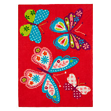 Buy little home at John Lewis Butterflies Children's Rug Online at johnlewis.com