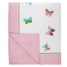 Buy little home at John Lewis Butterflies Quilted Bedspread Online at johnlewis.com