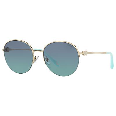 Tiffany & Co TF3053 Round Sunglasses, Gold/Blue Gradient