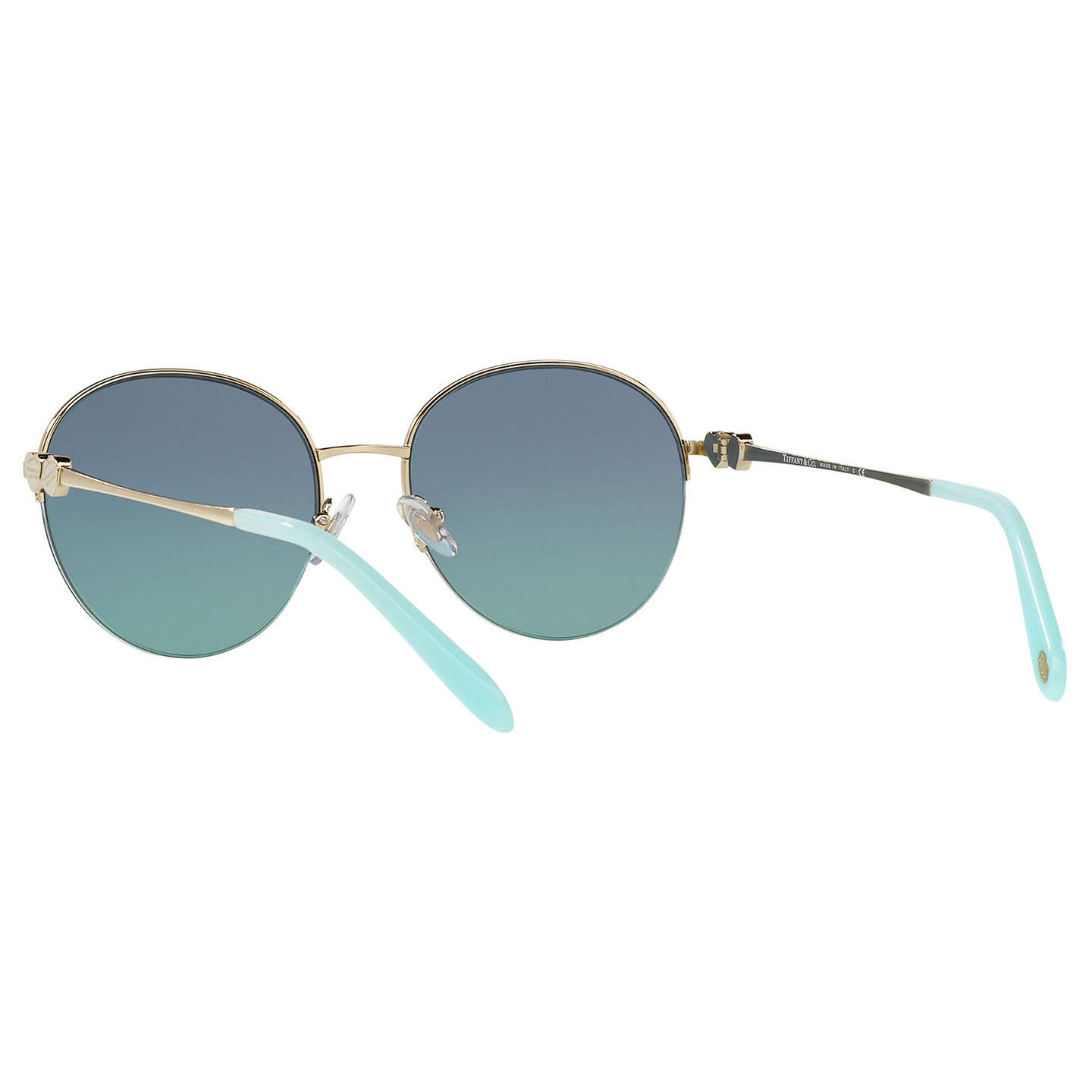 BuyTiffany & Co TF3053 Round Sunglasses, Gold/Blue Gradient Online at johnlewis.com