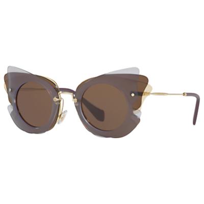 Miu Miu MU 02SS Triple Butterfly Frame Sunglasses, Multi/Brown