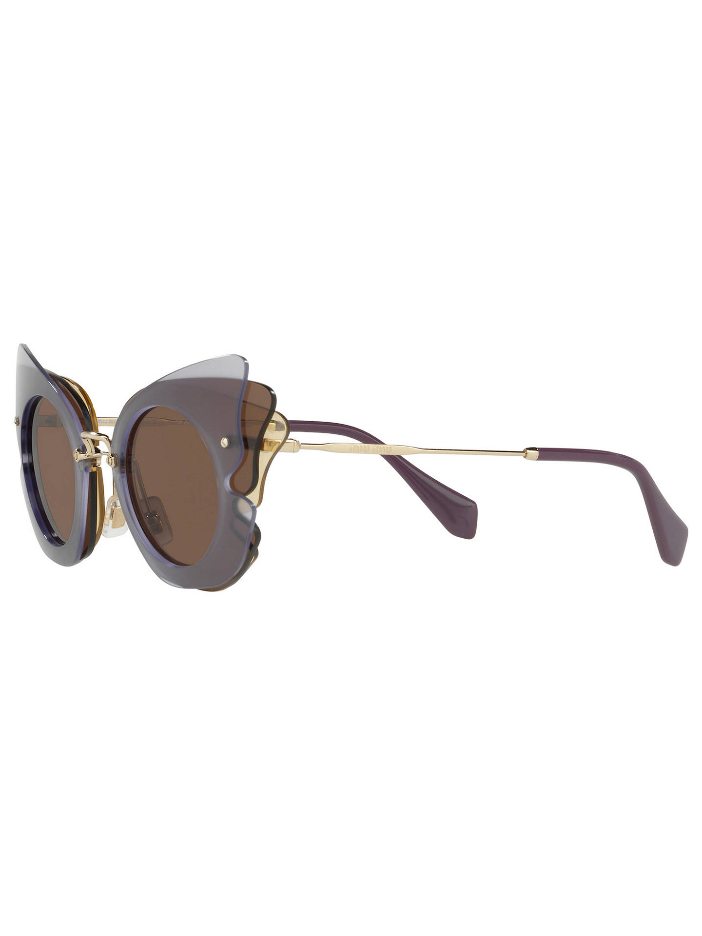 241e3675119f ... Buy Miu Miu MU 02SS Triple Butterfly Frame Sunglasses, Multi/Brown  Online at johnlewis ...
