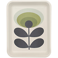 Buy Orla Kiely Enamel Rectangular Roasting Oven Dish, 70s Green Online at johnlewis.com
