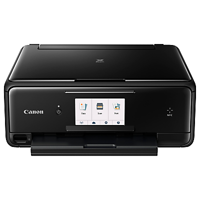 Canon PIXMA TS8050 All-in-One Wireless Wi-Fi Printer with Touch Screen, Black