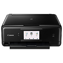 Buy Canon PIXMA TS8050 All-in-One Wireless Wi-Fi Printer with Touch Screen, Black Online at johnlewis.com