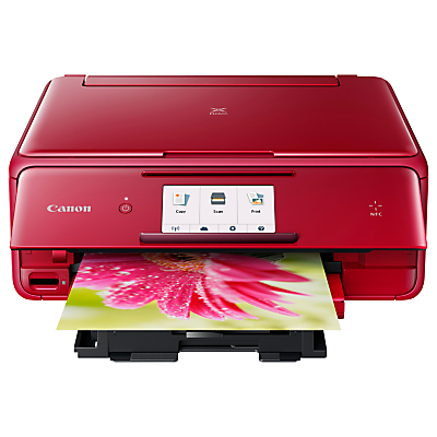 Canon PIXMA TS8052 All-in-One Wireless Wi-Fi Printer with Touch Screen, Red