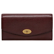 Buy Mulberry Darley Grain Veg Tanned Leather Medium Wallet, Oxblood Online at johnlewis.com