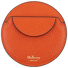 Buy Mulberry Continental Small Classic Grain Round Coin Purse Online at johnlewis.com