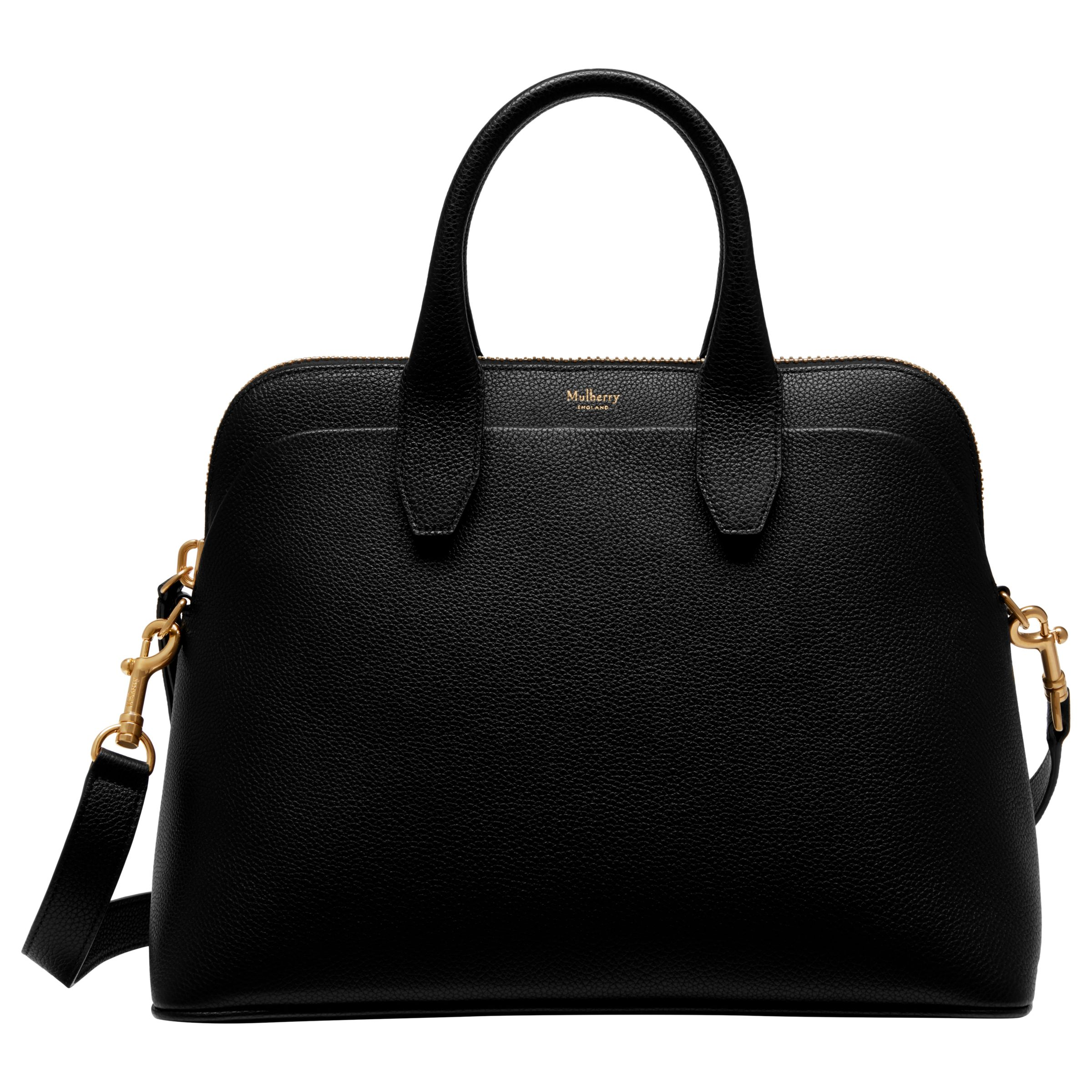 Mulberry Colville Leather Tote Bag, Black at John Lewis   Partners 4bf2aa8254