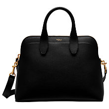 Buy Mulberry Colville Leather Tote Bag, Black Online at johnlewis.com