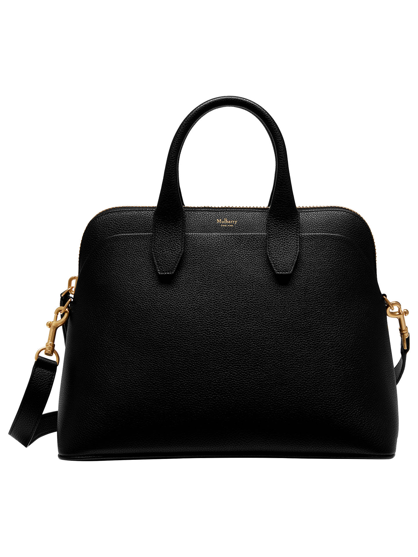 BuyMulberry Colville Leather Tote Bag, Black Online at johnlewis.com ... 0fb397dcbc