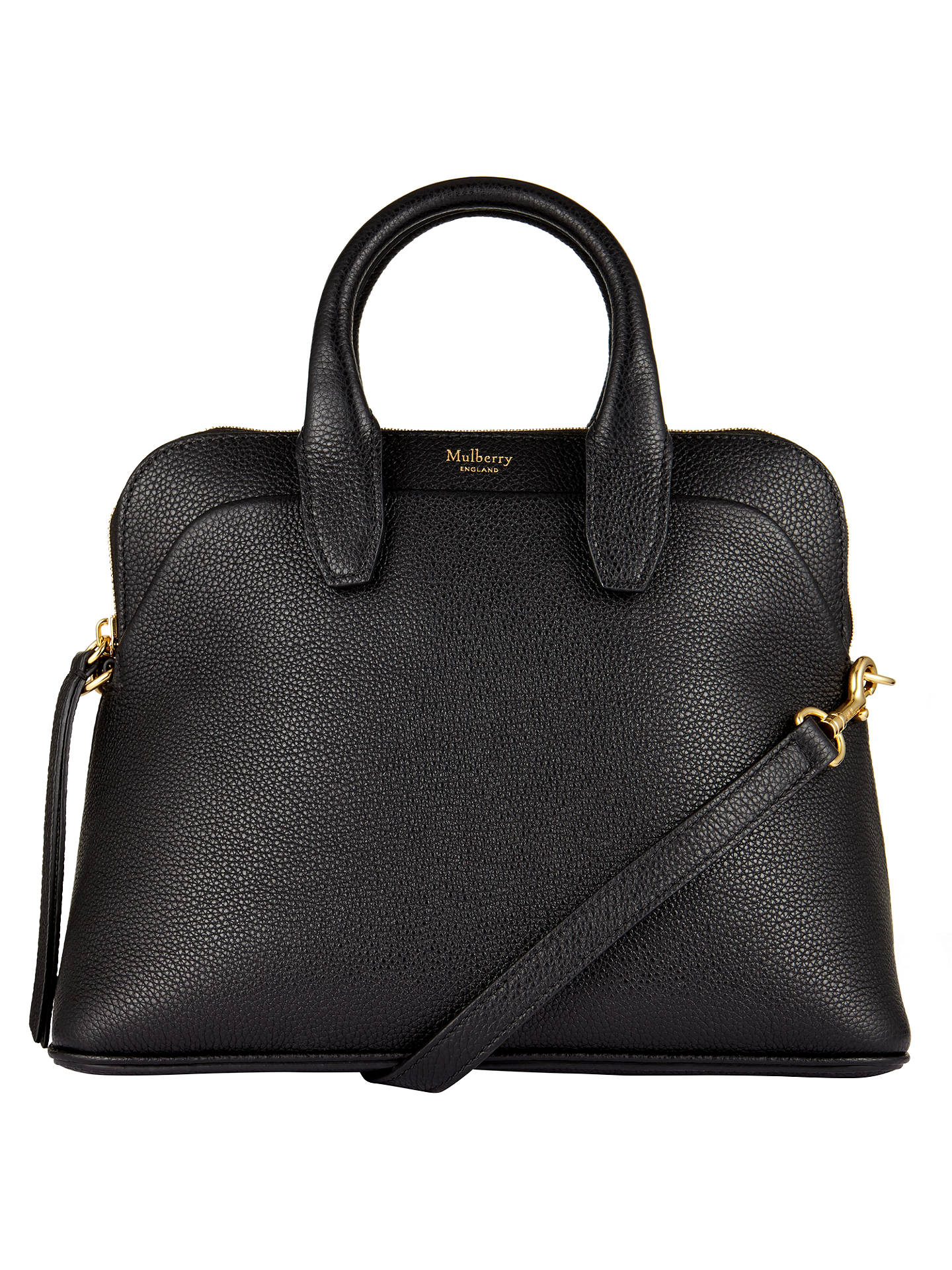 BuyMulberry Colville Small Leather Tote Bag, Black Online at johnlewis.com  ... dc82d23271