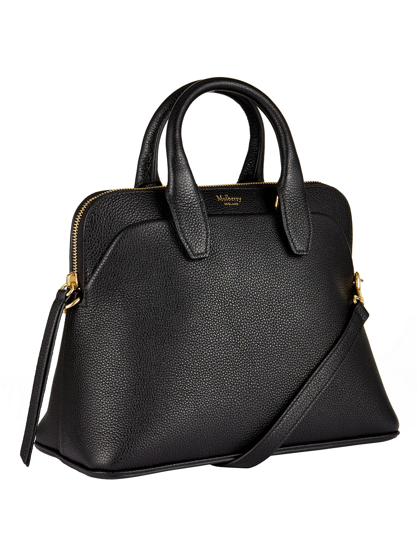 ... BuyMulberry Colville Small Leather Tote Bag, Black Online at  johnlewis.com 6e70dd46f5