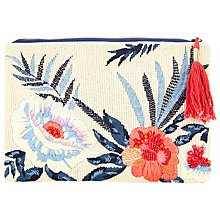 Buy John Lewis Tropical Floral Clutch Bag, Multi Online at johnlewis.com